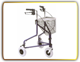 three wheel rollator, walking aid